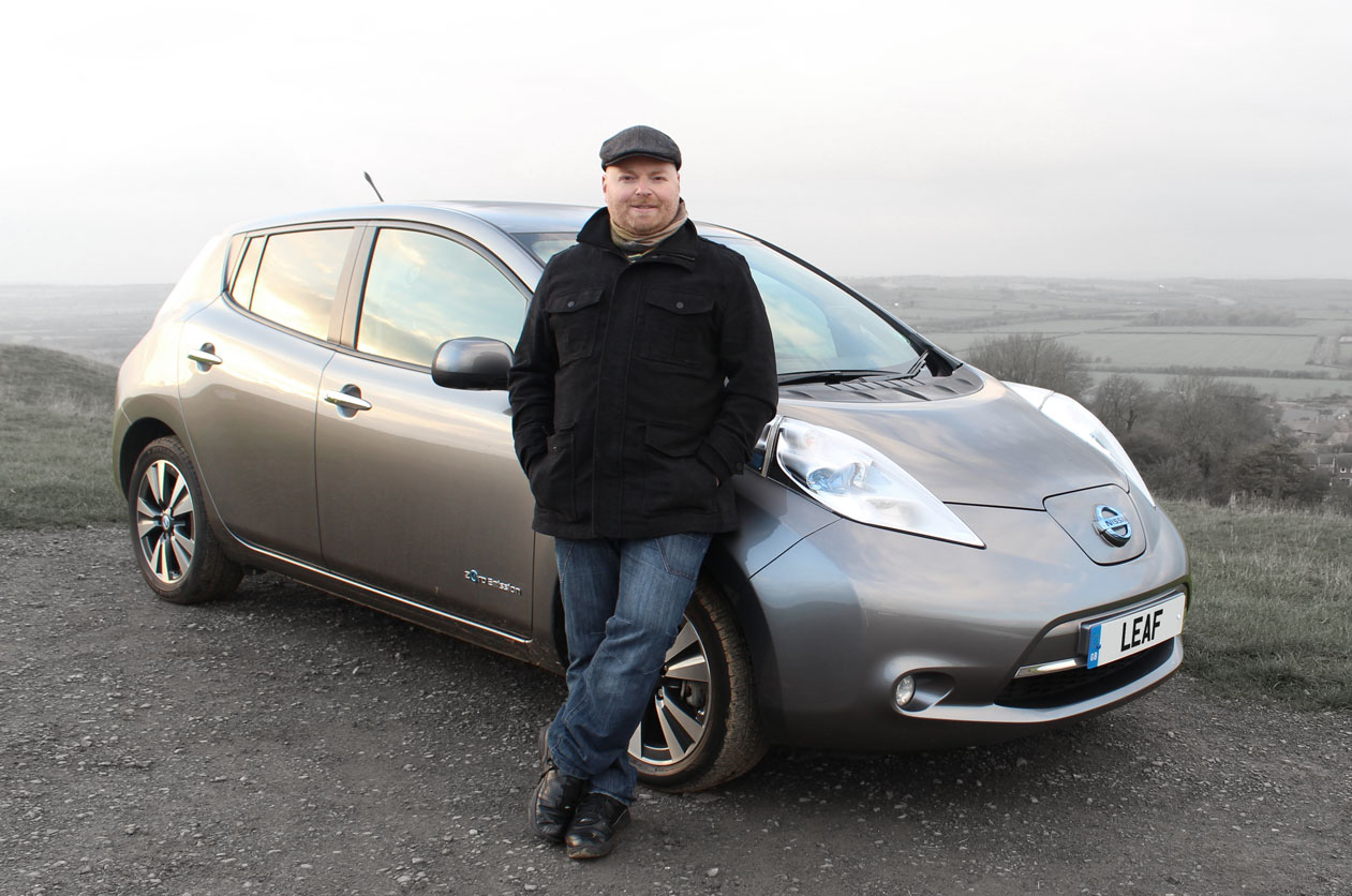 Nissan LEAF at Burton Dassett, November 2014