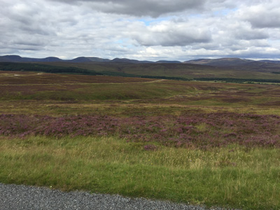 Approaching the Cairngorms near General Wade's Military Road.