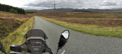 Approaching the Cairngorms on General Wade's Military Road.