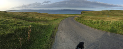 View towards Orkney from near Duncansby Head Lighthouse.