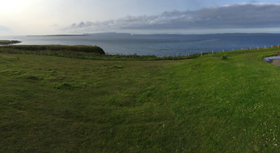 View towards Orkney from Duncansby Head Lighthouse.