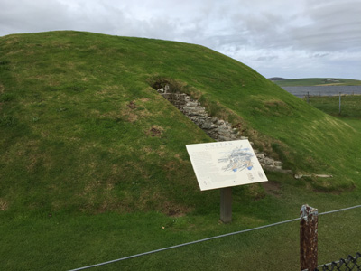 Unstan chambered cairn on Orkney mainland.