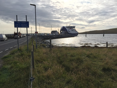 Ferry from Toft on Shetland Mainland to Ulsta on Yell.
