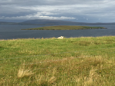 View from A968 near Ulsta, Yell, Shetland.