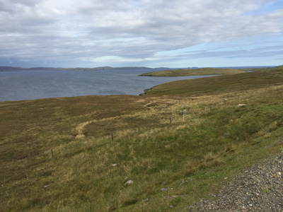 View from A968 on Yell, Shetland.