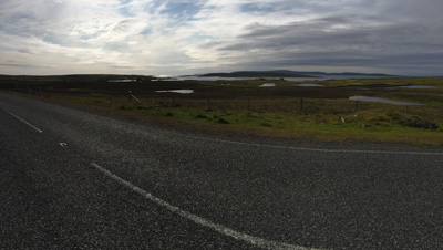 View from A968 on Unst, Shetland.