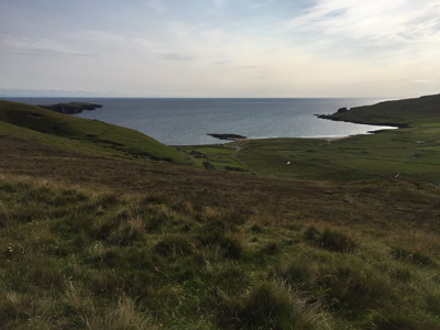View from road over Norwick, Unst, Shetland.
