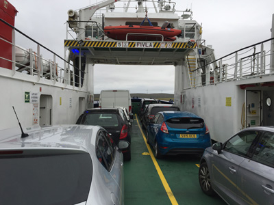 Ferry from Belmont, Unst to Gutcher, Yell, Shetland.